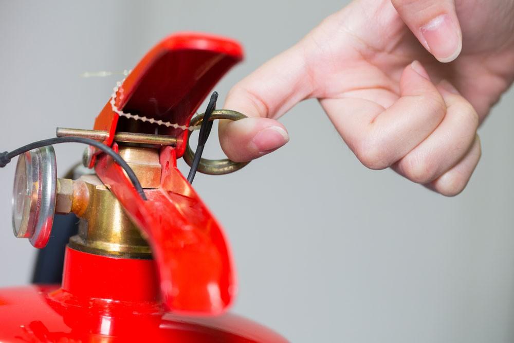 como usar un extintor